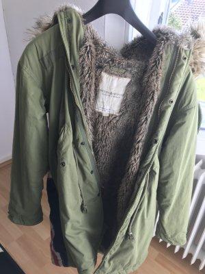 Denim & Supply Ralph Lauren Abrigo con capucha gris verdoso Algodón