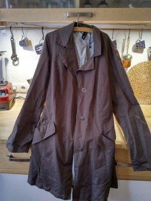 Abrigo de entretiempo marrón claro-marrón