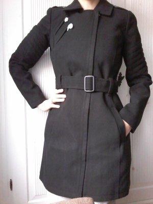 Mantel von Tom Tailor im Bikerstil - schwarz- S - NEU