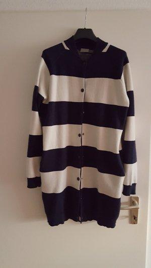 mantel von vero moda gestreift dunkelblau / creme