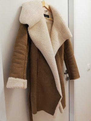 Vila Winter Coat light brown-natural white