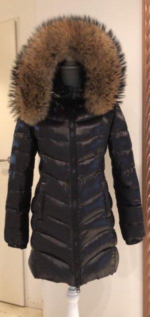We Love Furs Manteau de fourrure multicolore
