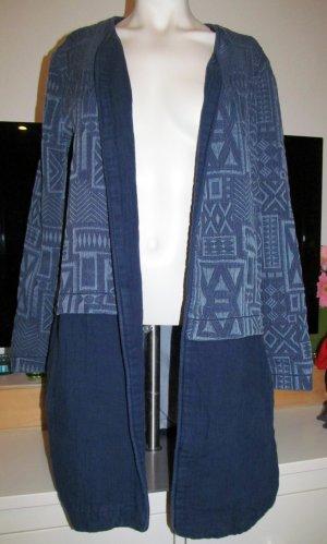 Zara Basic Short Coat blue-neon blue