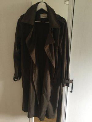 Zara Abrigo marrón-negro