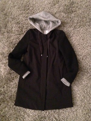 Zara Trafaluc Hooded Coat black-grey