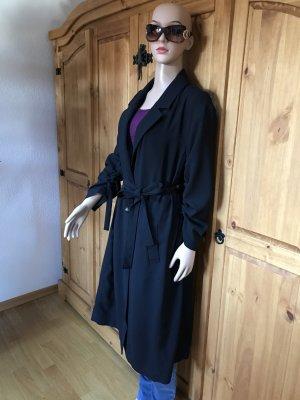 Zara Woman Manteau oversized noir tissu mixte