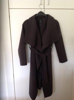 Mantel Wasserfallkragen grau Jennifer Taylor