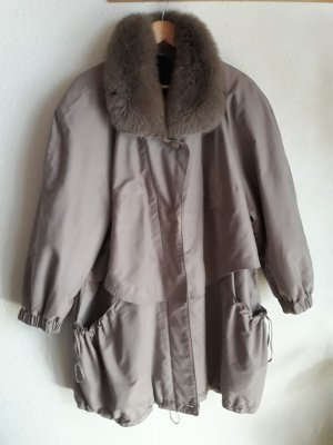 Oversized Coat grey brown-oatmeal