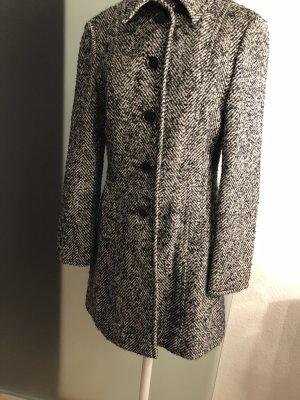 Mantel Winter Herbst von Miss H Gr 38 40 M schwarz-weiß