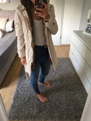 Manteau de fourrure crème-blanc cassé
