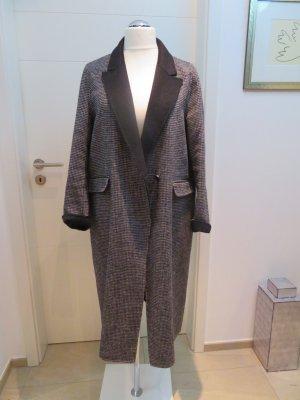 Mantel Wintermantel handmade vo Zara, ungefuettert, Xl in schwarz weis Karo