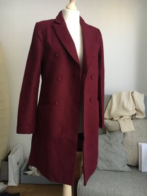 Mantel Wolle Beere weinrot dunkel coat tailored zabaione