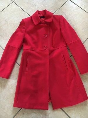 Benetton Wollen jas rood