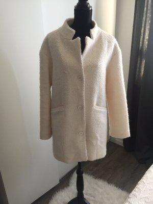 Mantel Wollweiß oversize