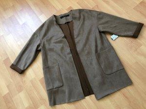 Zara Basic Abrigo corto color bronce