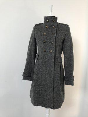 Zara Manteau court gris-gris foncé