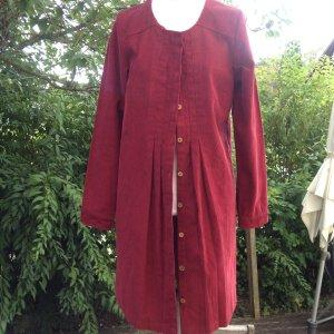 Tranquillo Robe manteau rouge foncé coton