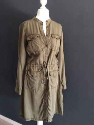H&M L.O.G.G. Gabardina tipo vestido gris verdoso lyocell