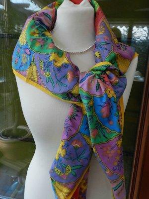 Châle au tricot multicolore tissu mixte