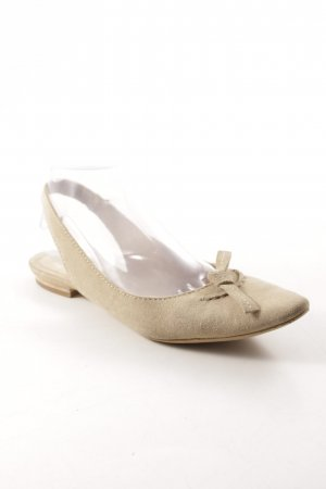 manufacture d'essai Slingback ballerina's beige casual uitstraling