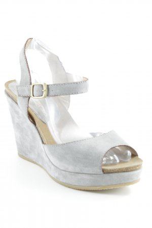 manufacture d'essai Wedge Sandals slate-gray-light brown elegant