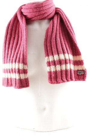 Mapapijri Knitted Scarf violet-light pink weave pattern casual look