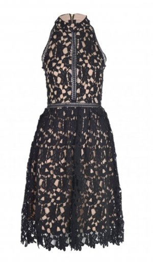 Lace Dress black-nude