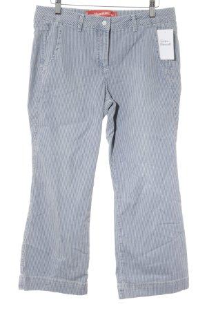 Marc Aurel Pantalon 7/8 bleuet-blanc motif rayé style décontracté