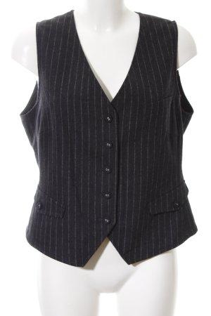 Marc Aurel Gilet de costume noir motif rayé style d'affaires