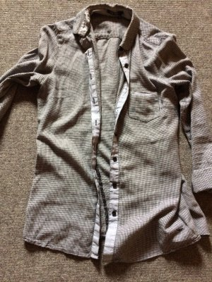 Marc Aurel Bluse Long in Grau/weiß