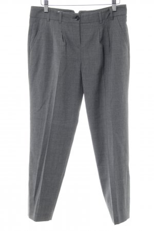 Marc Aurel Pleated Trousers light grey-silver-colored flecked business style