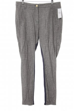 Marc Aurel Bundfaltenhose grau-dunkelblau abstraktes Muster Business-Look