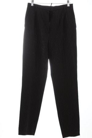 Marc Aurel Bundfaltenhose schwarz-weiß Nadelstreifen Business-Look