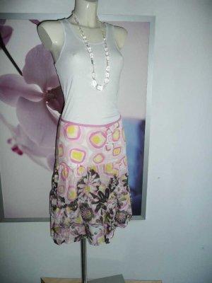 Marc Aurel bunter Sommer Rock Skirt Blumen Flower Print 34-36