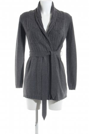 Marc Aurel Cardigan grau Strick-Detail