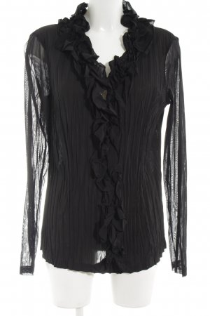 Marc Aurel Crash-Bluse schwarz Casual-Look