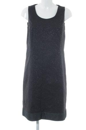 Marc Aurel Etuikleid schwarz-dunkelblau florales Muster Business-Look