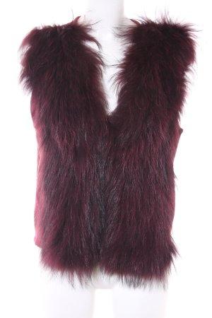 Marc Aurel Smanicato di pelliccia rosso scuro stile casual