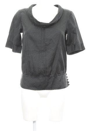 Marc Aurel Blouse brillante noir-gris clair motif abstrait élégant