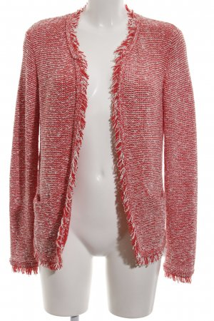 Marc Aurel Coarse Knitted Jacket red-white flecked casual look
