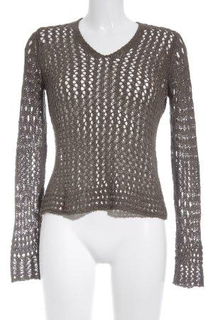 Marc Aurel Coarse Knitted Sweater green grey weave pattern street-fashion look
