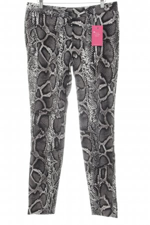 Marc Aurel High Waist Trousers animal pattern reptile print