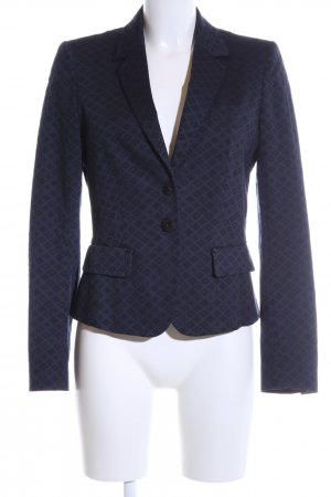 Marc Aurel Jerseyblazer blau-schwarz Allover-Druck Business-Look