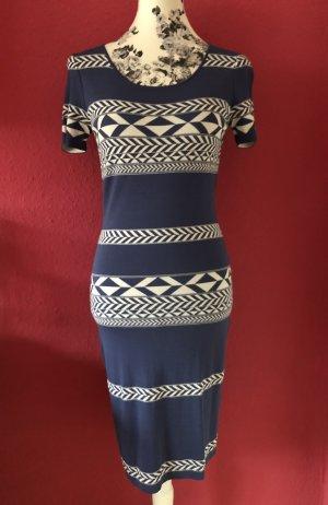 Marc Aurel Kleid blau weiß