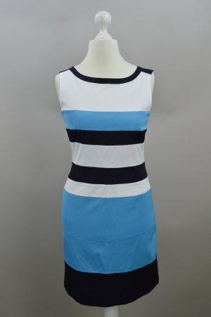 Marc Aurel Kleid gestreift blau Größe 38