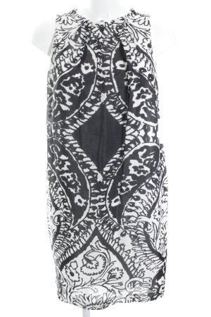 Marc Aurel Kurzarmkleid schwarz-weiß Ornamentenmuster Elegant