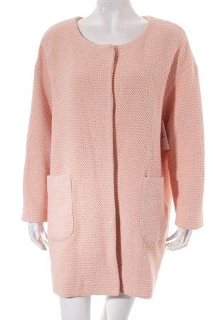 Marc Aurel Kurzmantel rosé-hellrosa Street-Fashion-Look