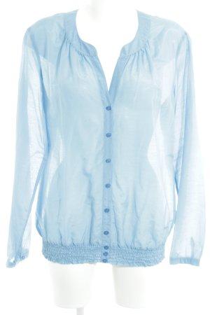 Marc Aurel Langarm-Bluse blau Casual-Look