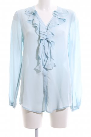 Marc Aurel Langarm-Bluse blau Business-Look