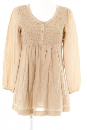 Marc Aurel Langarm-Bluse beige Street-Fashion-Look